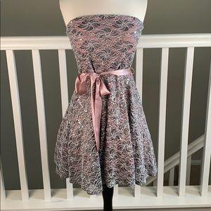 As U Wish Formal strapless dress size Large